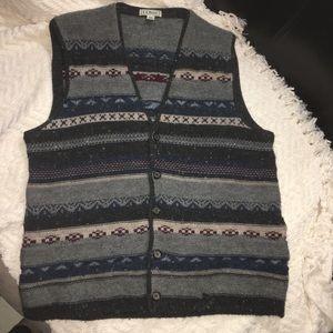 VIntage VTG LL Bean 100% wool Ireland vest (U)